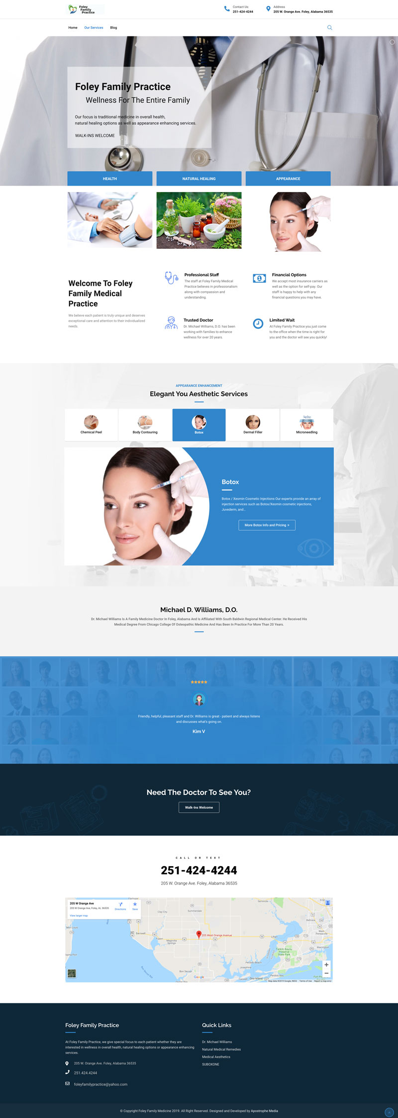 foley-family-medical-website-design